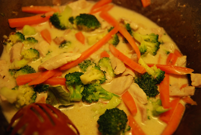 wok med kokosmjölk